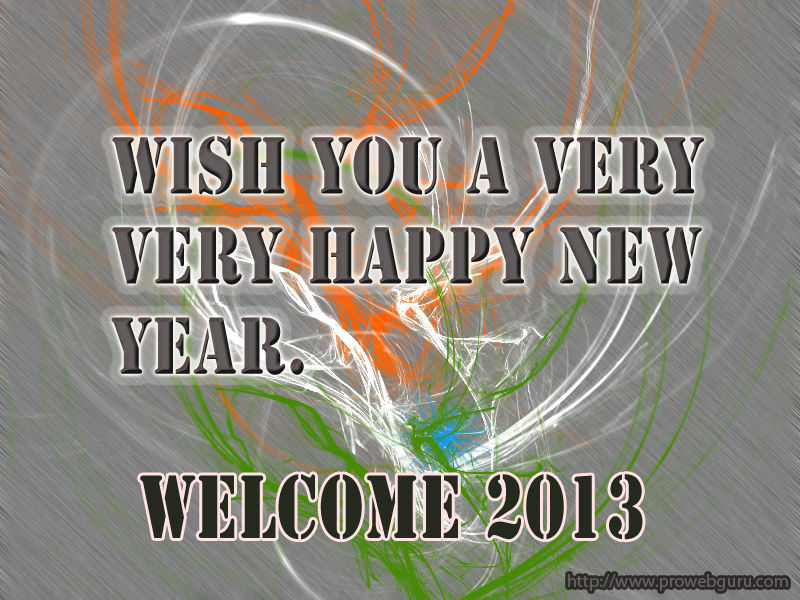 Happy New year 2013 animation