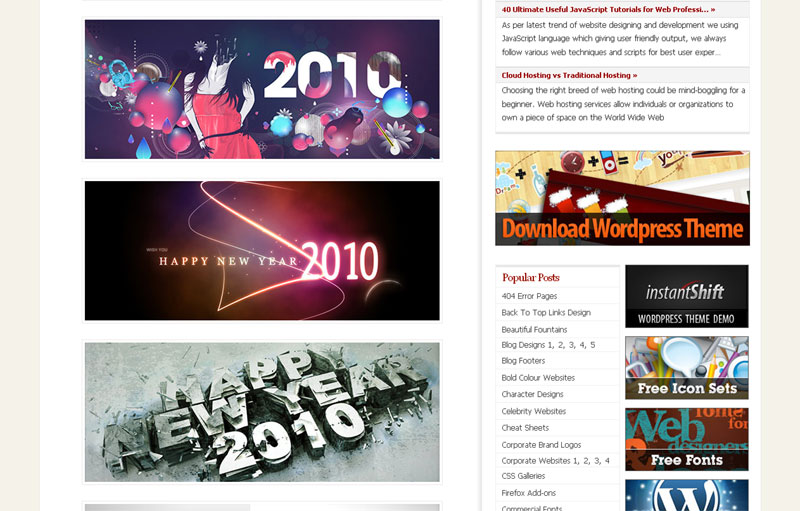 free new year 2010 wallpapers, collection of wallpapers from different