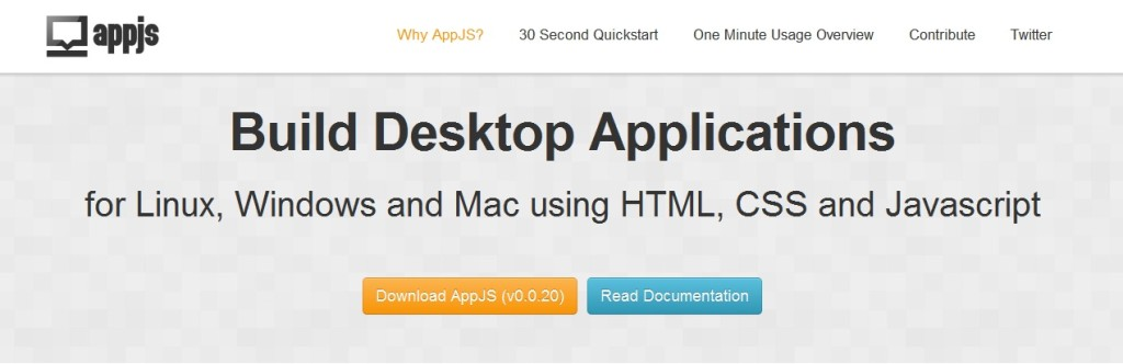 AppJS Create Standalone Desktop Apps with HTML5,CSS3,JavaScript