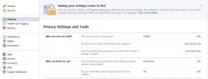 Facebook All Privacy Options and Settings at a Glance