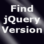 Find jQuery Version