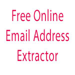 How to extract email addresses or email ids online for free ?