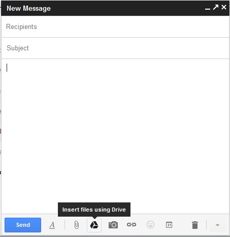 Send Large Files through GMail and Google Drive
