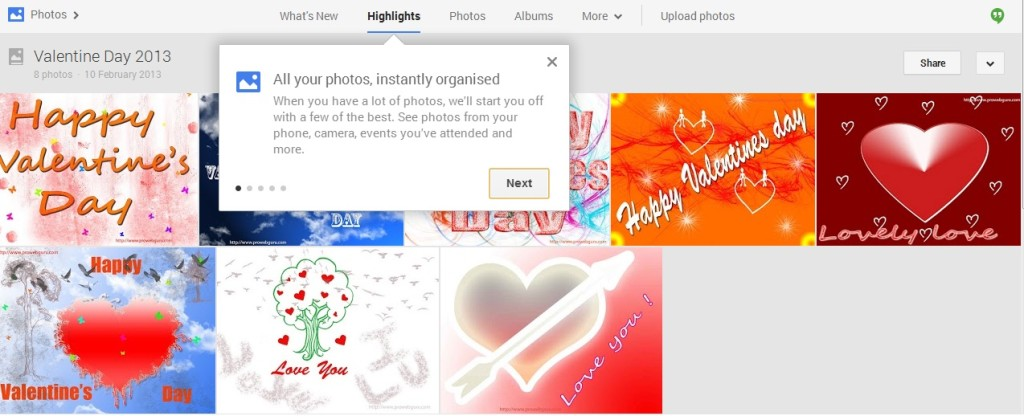 Google Plus Photos Instantly Organized