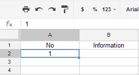 Google Spreadsheet Drag & Increment Numbers