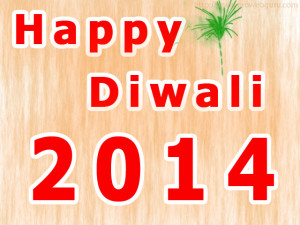 Happy Diwali 2014 Simple Brown Texture Image Wallpaper