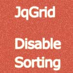 JqGrid Disable Sorting