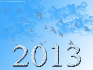 Latest New Year Cloud 2013 Wallpaper