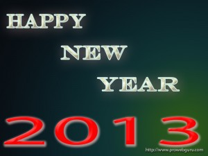 Fresh New Year 2013 Wallpaper