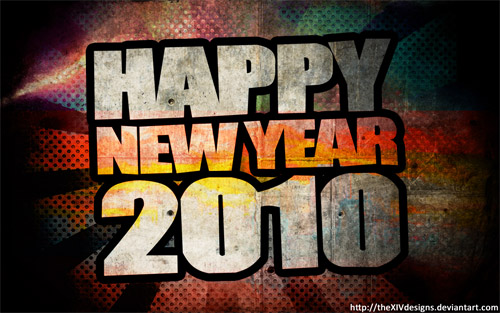 has a very good collection of new year wallpapers for 2010 from