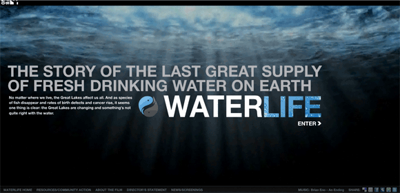 what is water, flash website on water