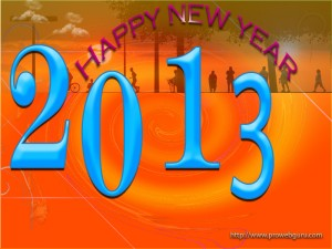 Welcome New Year 2013 Happily Pic